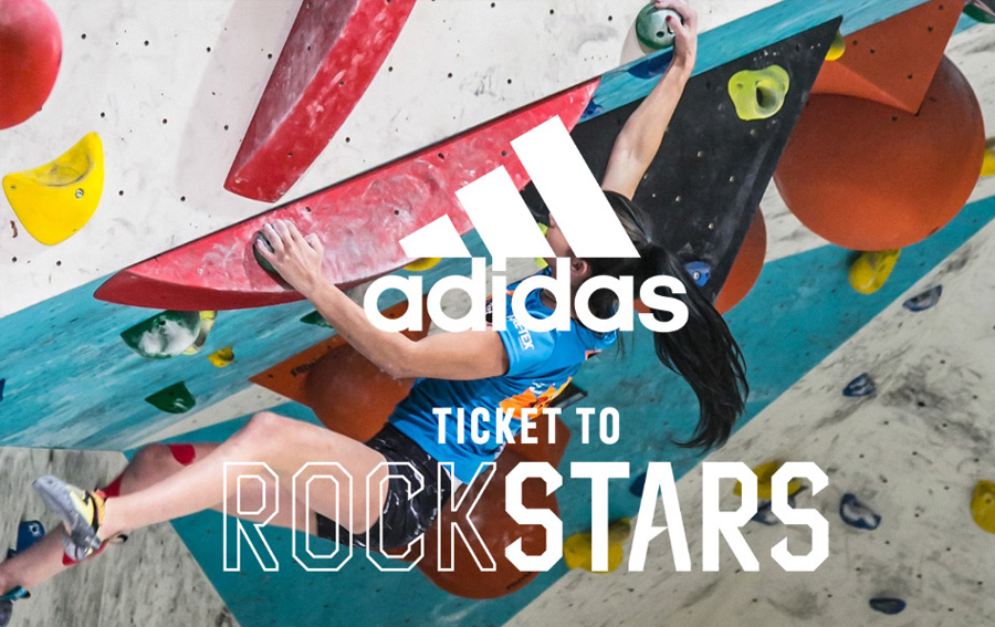 ADIDAS and Karma organise a free bouldering competition. T-shirt for free for all participants ! Come on !
